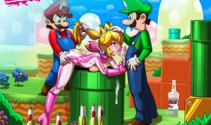 princess peach porn threesome
