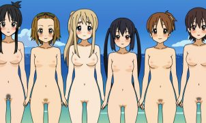 K-ON! Kisekai sex undress
