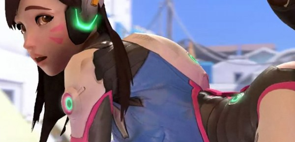 d.va porn doggystle with hanzo - overwatch hentai