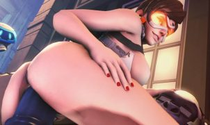 monster cock winston fucks tracer - overwatch sex