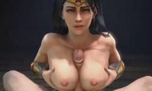 wonder woman 3d sex titjob