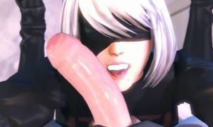 yorha hentai 3d blowjob
