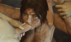 dirty lara croft oral rape