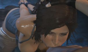 lara croft forced deepthroat
