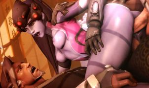 widowmaker double penetration porn