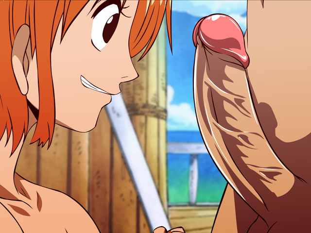 nami blowjob - one piece hentai