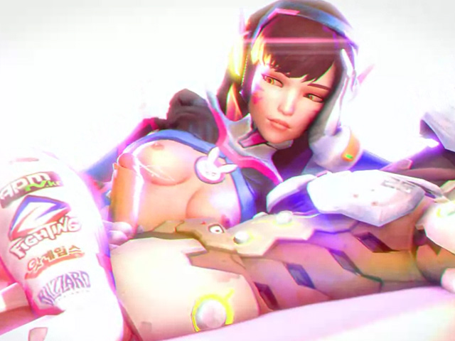 d.va plays cock full of sperm