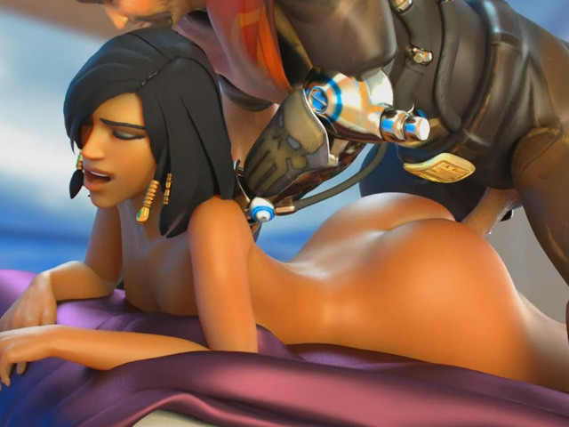 pharah ass drilled by mccree