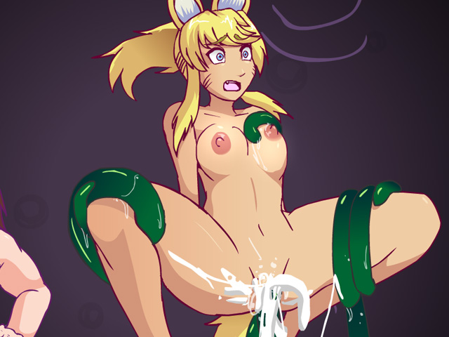 Fox girl tentacles cum explosion