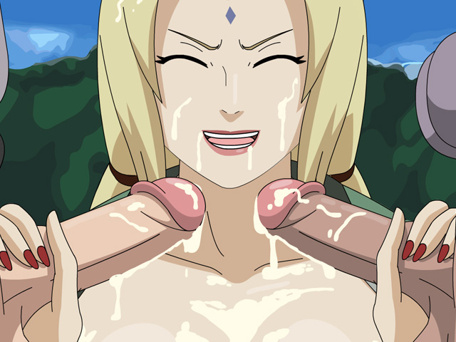 Tsunade in debt – Tsunade sucks Raikage's cock